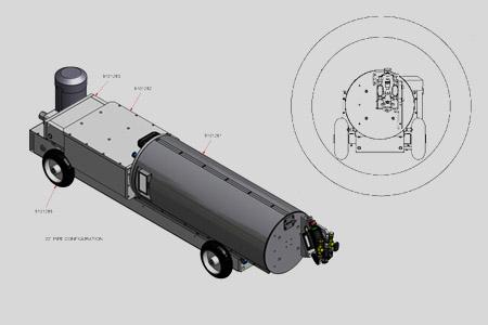 Położenie głowicy dla średnicy 1200 mm
