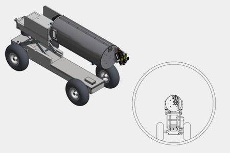 Położenie głowicy dla średnicy 450 mm