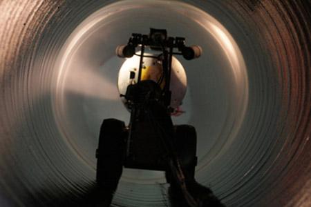 Natrysk rurociągu o średnicy 600 mm